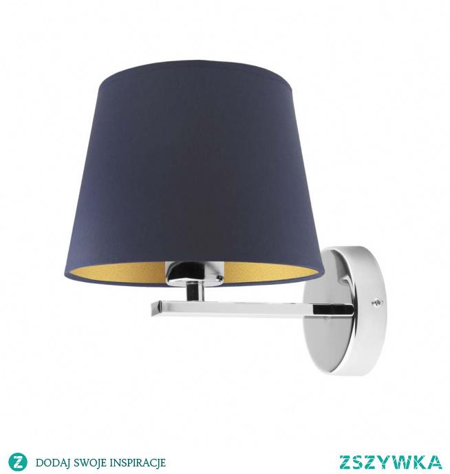 Kinkiet to nie kolejny zbędny dodatek lecz bardzo ważny element umożliwiający dopełnienie kompozycji panującej we wnętrzu. Przekonuje się o tym coraz więcej osób. Lampa ścienna PUNA GOLD to przykład oświetlenia, które zadowoli niejednego klienta. Jej prosta forma doskonale wpisze się w pomieszczenia urządzone w stylu loftowym. Lampa posiadając dwukolorowy abażur, przyciąga wzrok i powoduje, że nie sposób przejść obok niej obojętnie. Osłony żarówek w kolekcji GOLD odznaczają się złotym kolorem środka. Każdy z ciemnych abażurów posiada wnętrze matowe zaś biały - połyskujące. Lampę dostosowano do żarówek E27 o maksymalnej mocy 60W.  Kinkiet PUNA GOLD dostępny jest w 5 wariantach kolorystycznych abażuru (biały ze złotym wnętrzem (złoty połysk), szary stalowy ze złotym wnętrzem (złoty mat), zieleń butelkowa ze złotym wnętrzem (złoty mat), granatowy ze złotym wnętrzem (złoty mat) oraz czarny ze złotym wnętrzem (złoty mat)) oraz kilku kolorach stelaży (biały, czarny, chrom, stal szczotkowana, stare złoto).