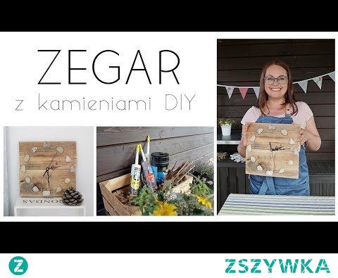 Zegar #DIY z kamieniami | DIY 29 | HAART #upcycling #zegar #drewno