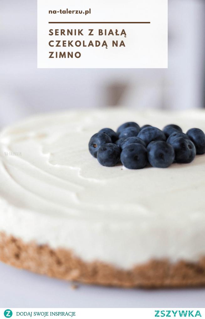 Idealny sernik z białą czekoladą - bez pieczenia i bez żelatyny