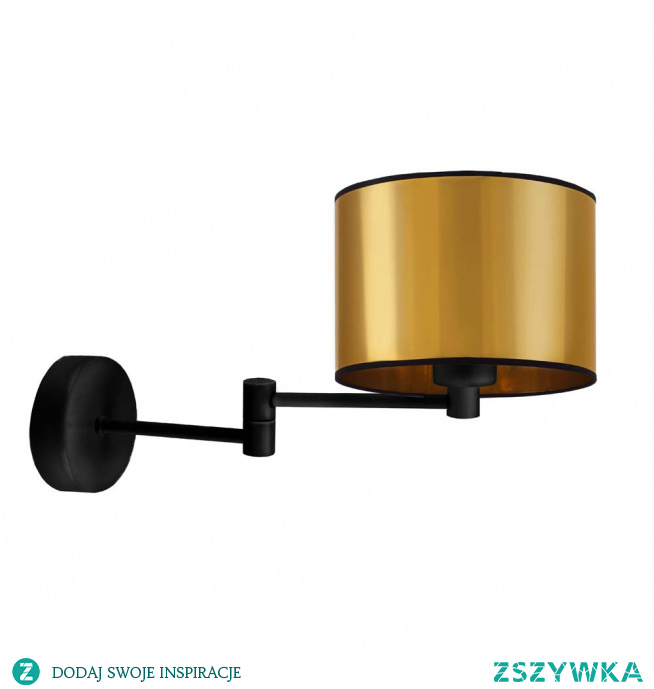 Kinkiet BRAGE MIRROR to interesujące oświetlenie dodatkowe, które nie tylko doświetli wnętrze, ale też ozdobi je swoim nieszablonowym designem. Ramię kinkietu oparte jest na przegubie dzięki czemu można regulować jego rozpiętość w płaszczyźnie prawo – lewo. Wysokiej jakości metalowy stelaż oraz najwyższej jakości tkaninowy abażur wykonany z folii PVC to gwarancja jakości na długie lata! Wysokość lampy wynosi 26 cm, a szerokość 38 cm.   Dzięki możliwości indywidualnego doboru wariantów kolorystycznych abażurów (wybór spośród dwóch kolorów: złoty, miedziany) oprawa ścienna BRAGE MIRROR stanie się elegancką oprawą świetlną nie tylko w pomieszczeniach komercyjnych, ale także domowych - będzie idealnym dodatkowym źródłem światła w sypialni przy łóżku, salonie czy doświetli wolną przestrzeń w przedpokoju lub klatce schodowej.