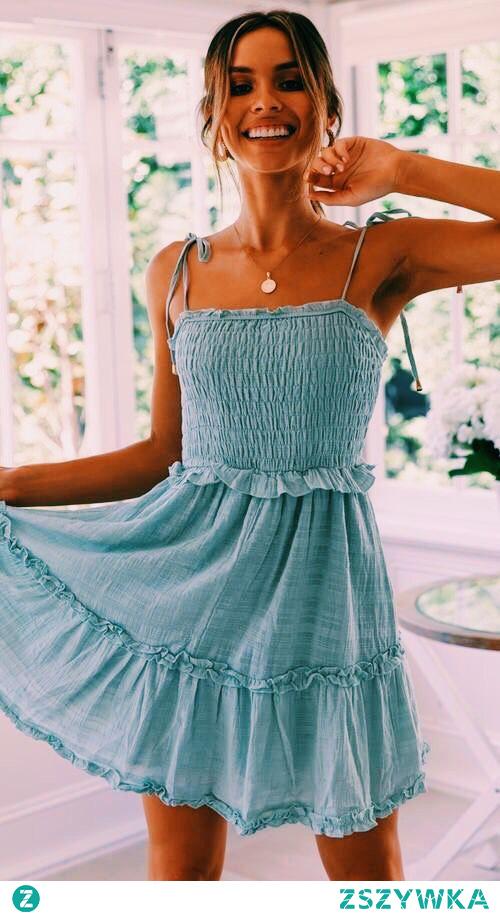 #sukienka #niebieska