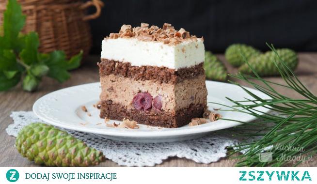 """Ciasto """"Czarny las"""" Ciasto, którego inspiracją był tort Szwarcwaldzki. Czekoladowy biszkopt, dwa kremy: czekoladowy i śmietankowy i ten niepowtarzalny smak wiśni! Pychota! Polecam!"""