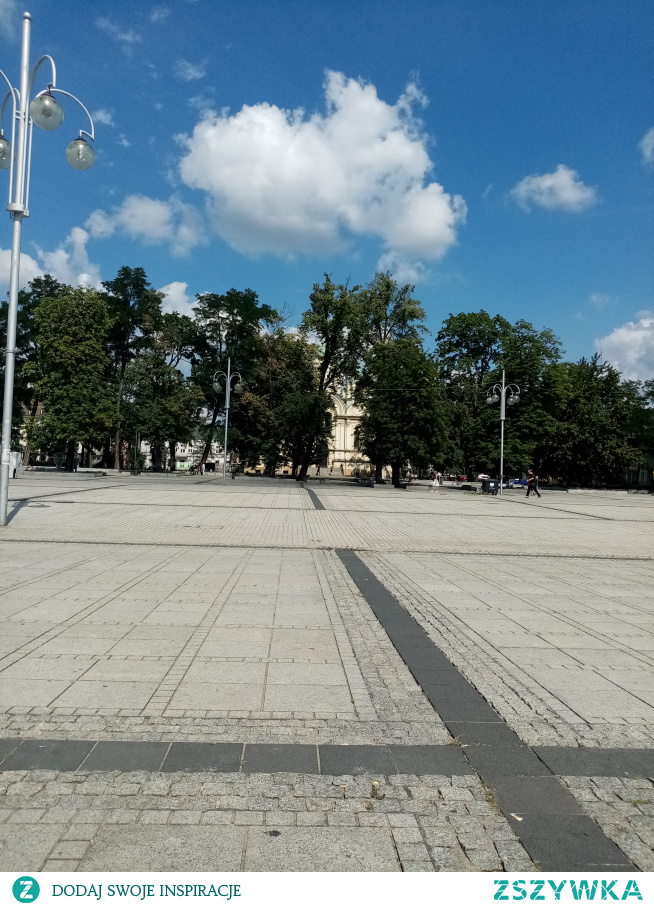 Fragment Placu Biegańskiego w Częstochowie