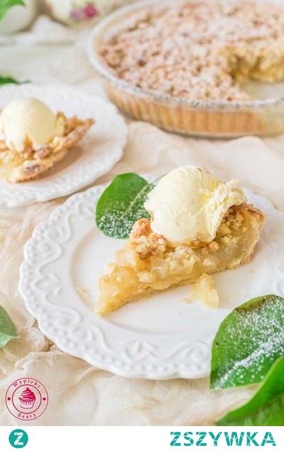 Szarlotka z migdałową kruszonką - Najlepsze przepisy | Blog kulinarny - Wypieki Beaty