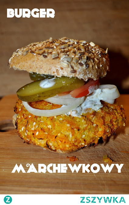 Pyszny i bez mięsa. Burger marchewkowy.