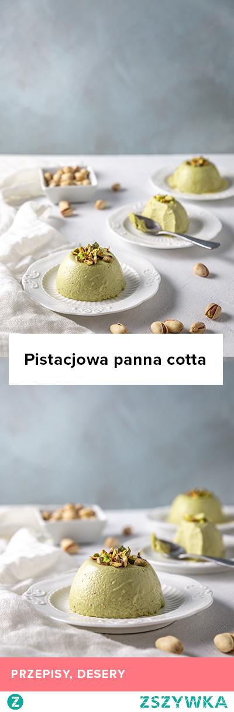 Przepis na pistacjową panna cottę