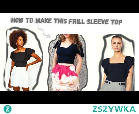 jak uszyć modny top z falbankami