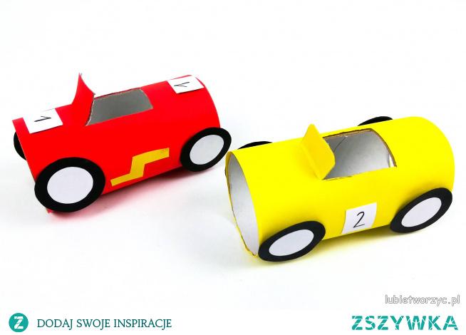 Tutorial ukazujący sposób wykonania samochodu, dla chłopca, z rolki po papierze toaletowym ;)