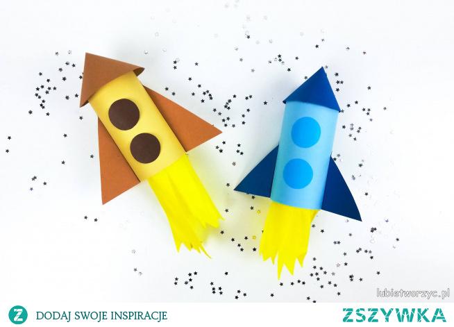 Tutorial ukazujący sposób wykonania rakiety, dla chłopca, z rolki po papierze toaletowym ;)