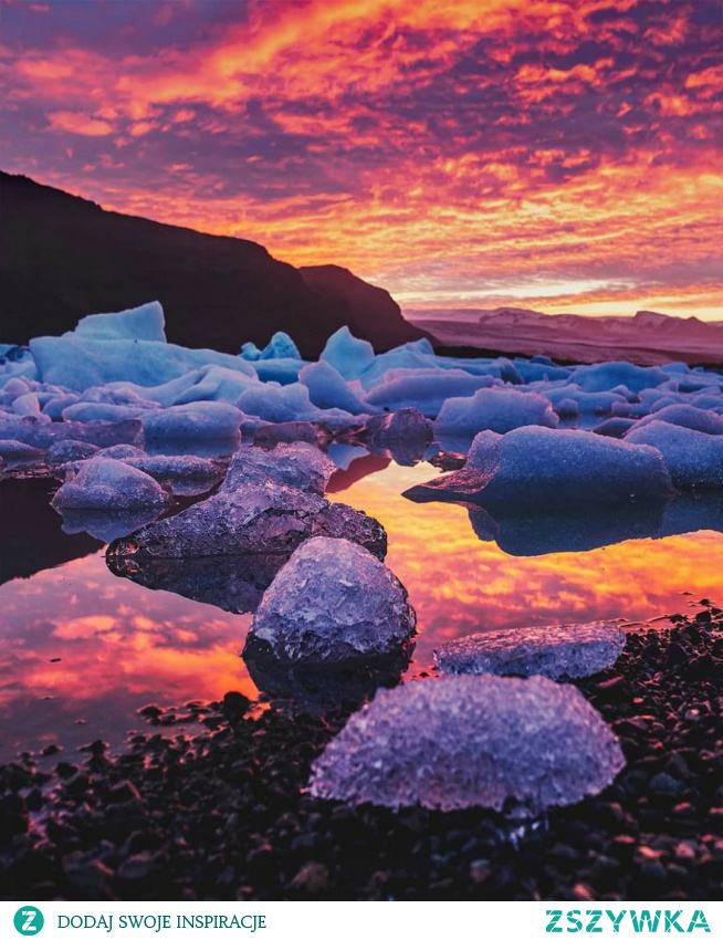 Zachód słońca w Islandii. #Islandia#sunset#
