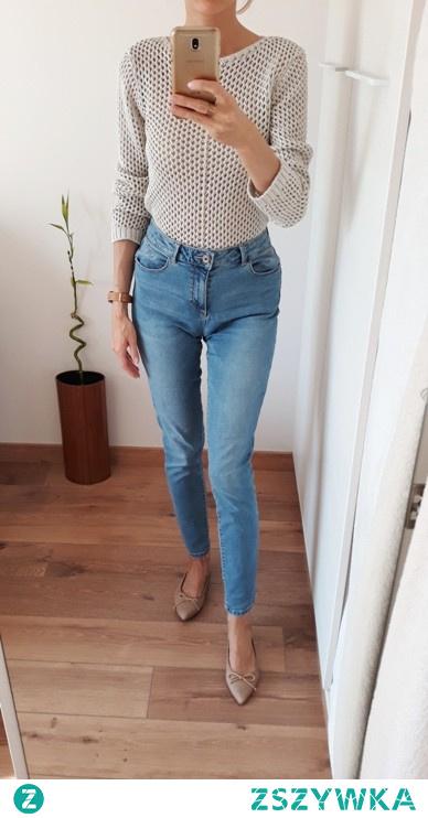 Jeansy skinny z wysokim stanem  po szczegóły kliknij w zdj.