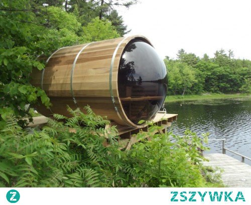 Jak sprawić, żeby Twój ogród był niesamowicie luksusowy? Mamy coś dla fanów saun! sauna beczka ze specjalnym, panoramicznym oknem - to robi wrażenie!