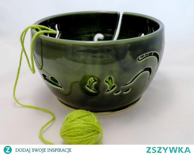 miska na włóczkę, yarn bowl, szydełkowanie, robótki ręczne, ceramika, garncarstwo