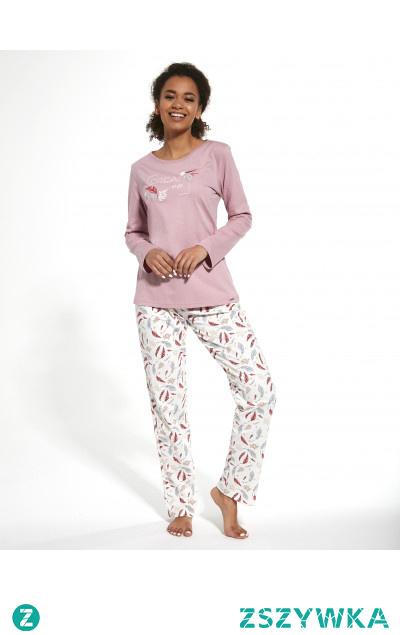 Kobieca, elegancka piżama z wysokiej jakości bawełny. Sprawdź ją na cornette.pl
