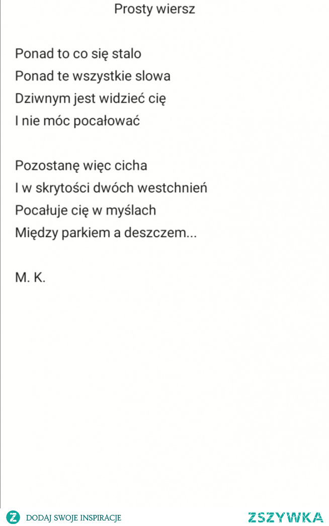Prosty wiersz