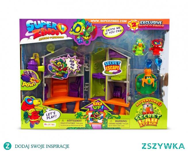 Super zings laboratorium to zestaw, na który składa się sekretne laboratorium z niespodziankami oraz figurkami. Sprawdź pełną ofertę w naszym sklepie E- kidsplanet.