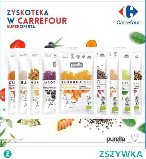 Zyskoteka z superfoods w sklepach sieci Carrefour