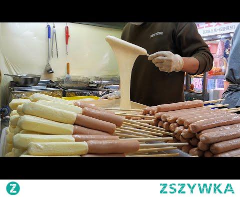 줄서서 먹는 치즈 핫도그 / famous cheese hot dog / korean street food