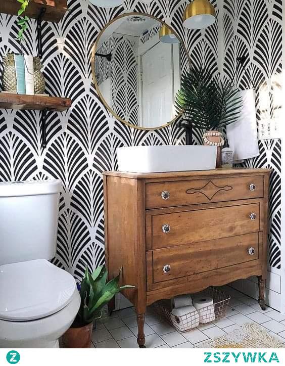 #łazienka #tapete #wzór