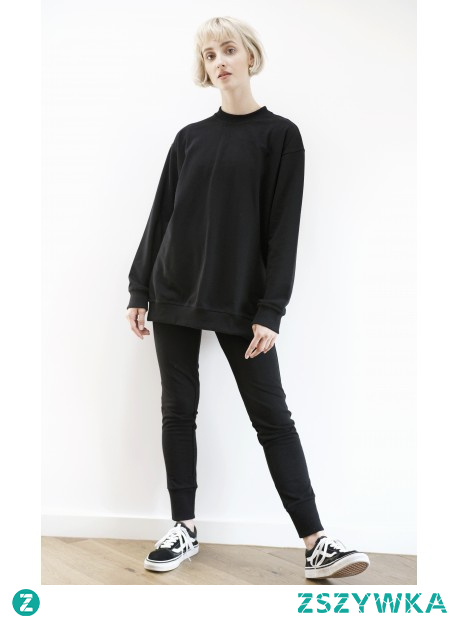 Komplet dresowy czarny -polska marka odzieżowa. Zapraszamy na strone modish.pl