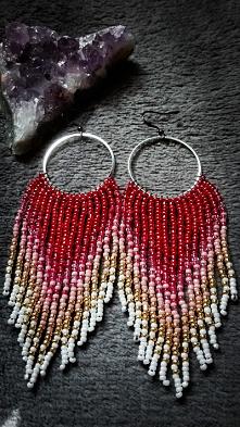 Kolczyki czerwone - 10 cm