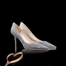 Wysokiej Klasy Gradient-Kolorów Srebrny Cekinami Cekiny Buty Ślubne 2020 Skórzany 8 cm Szpilki Szpiczaste Ślub Czółenka