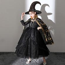 Halloween Cosplay Czarne Su...