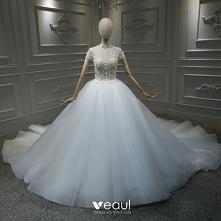 Vintage Białe ślubna Suknie...
