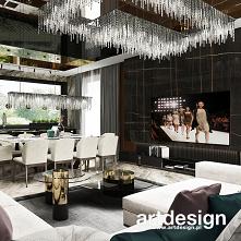 Luksusowy salon z jadalnią ...
