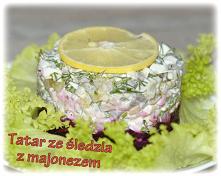 Tatar ze śledzia z majonezem