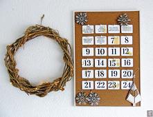 Kalendarz Adwentowy DIY do druku