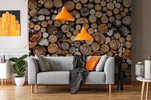 Imitacja drewna na ścianie....