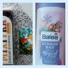 2 grudnia *** W kalendarzu adwentowym z jedzeniem był baton daktylowy  i magnes na lodówkę a w kosmetycznym płyn do kąpieli. #kalendarz #adwentowy