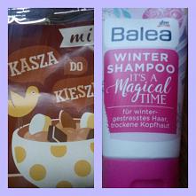 3 grudnia *** W kalendarzu z jedzeniem kasza z płatkami czekoladowymi i bananem a w kosmetycznym  szampon. #kalendarz #adwentowy
