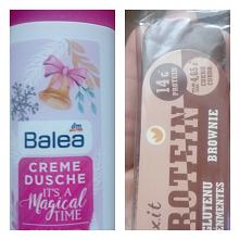 9 grudnia *** W kalendarzu kosmetycznym był kremowy żel pod prysznic a w kalendarzu z jedzeniem baton proteinowy o smaku brownie. #kalendarz #adwentowy