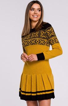 MOE Sweterkowa sukienka świ...