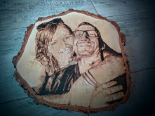 portret - plaster brzozy