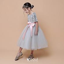 Moda Srebrny Sukienki Dla D...