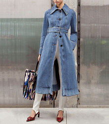 jeans trench coat