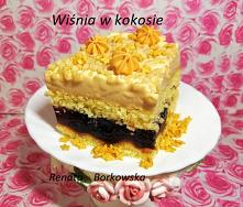 Ciasto   Wiśnia  w   kokosie