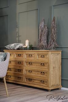 Drewniana komoda rustykalna do salonu i sypialni. Przepiękna komoda z szufladami na ubrania czy dokumenty