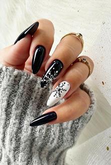 #paznokcie #czarnobiałe
