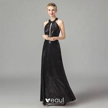 Moda Czarne Cekiny Sukienki...