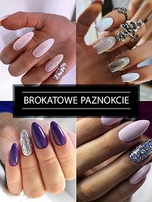 Modny Manicure z Brokatem –...