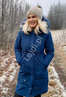 Zimowa kurtka damska 2w1 na...