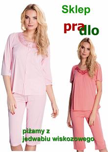 #Eleganckie piżamy damskie z jedwabiu wiskozowego. Bardzo delikatne w dotyku komfort snu poleca Pradlo
