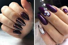 Manicure w ciemnej tonacji ...