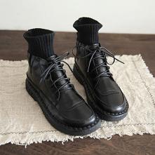 Vintage Zima Czarne Zużycie...