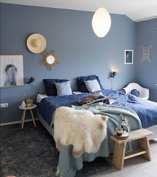 #sypialnia #niebieskasypialnia