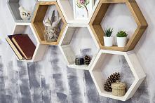 Heksagony - półki w kształc...